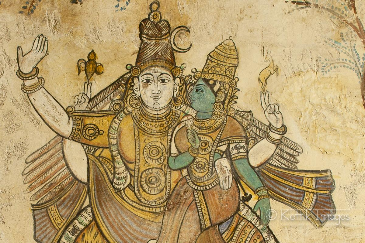 Fantastic Frescos : Timeless intricate wall paintings at the Tanjore (Thanjavur) Big Temple