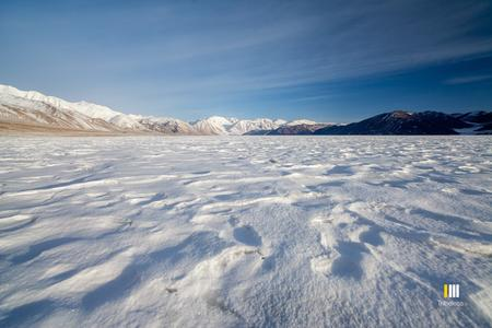 Pangong lake in Winters
